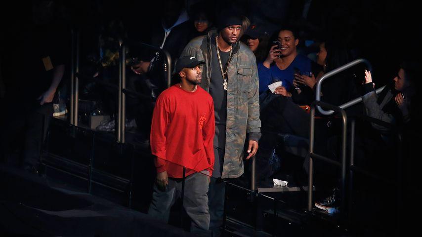 Lamar Odom und Kanye West (l.) in New York City