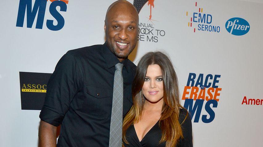 Lamar Odom und Khloe Kardashian auf einem Event 2012