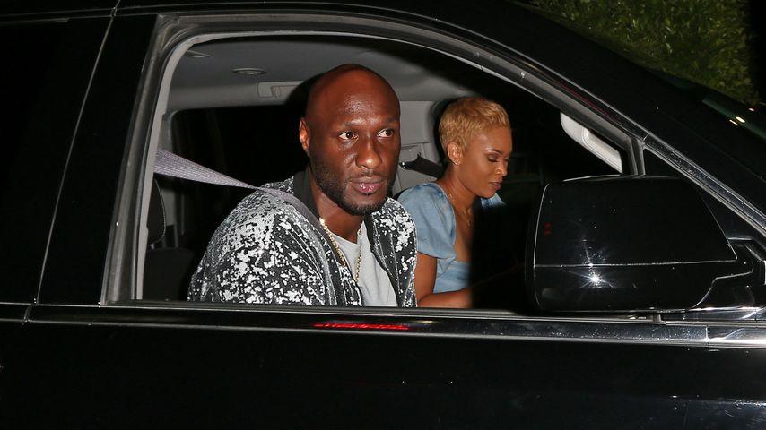 Lamar Odom und seine Freundin Sabrina Parr beim Verlassen der Hyde Lounge in West Hollywood