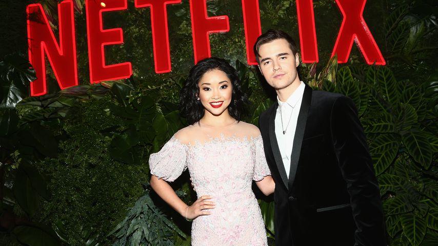 Netflix-Star Lana Condor mit Freund bei Golden-Globes-Party