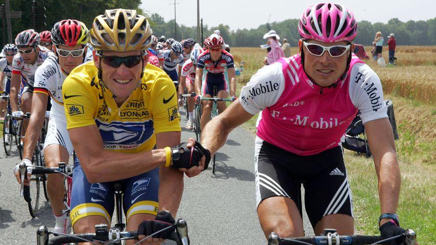 Lance Armstrong und Jan Ullrich bei der Tour de France 2004