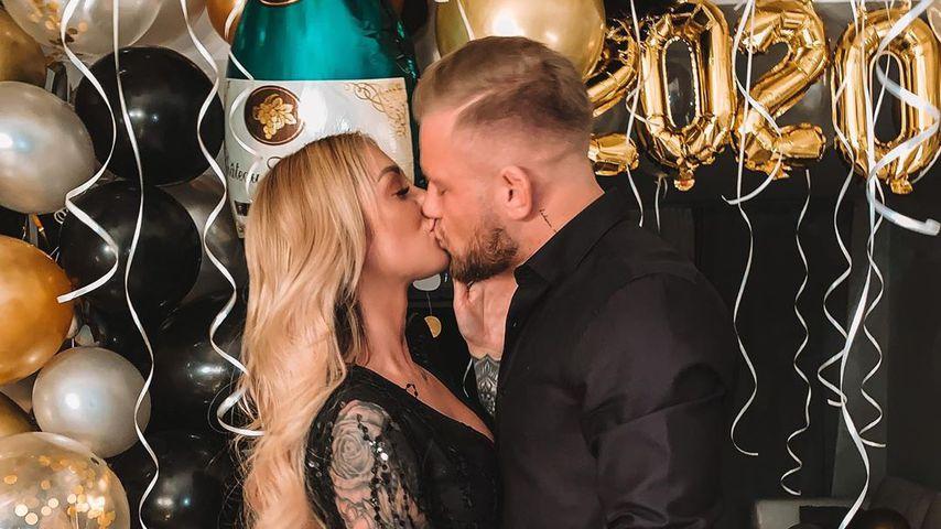 Larissa und ihr Freund Robin Pelzer an Silvester 2019/2020