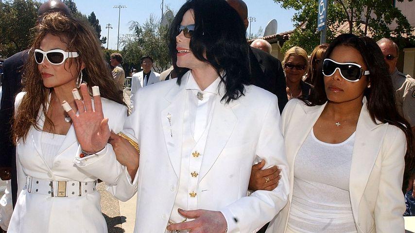 LaToya, Michael und Janet Jackson im Januar 2005