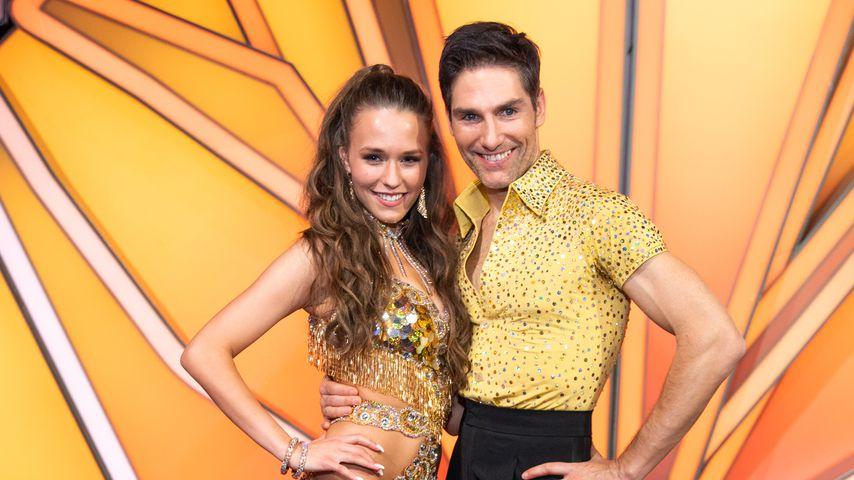 Laura Müller mit ihrem Tanzpartner Christian Polanc