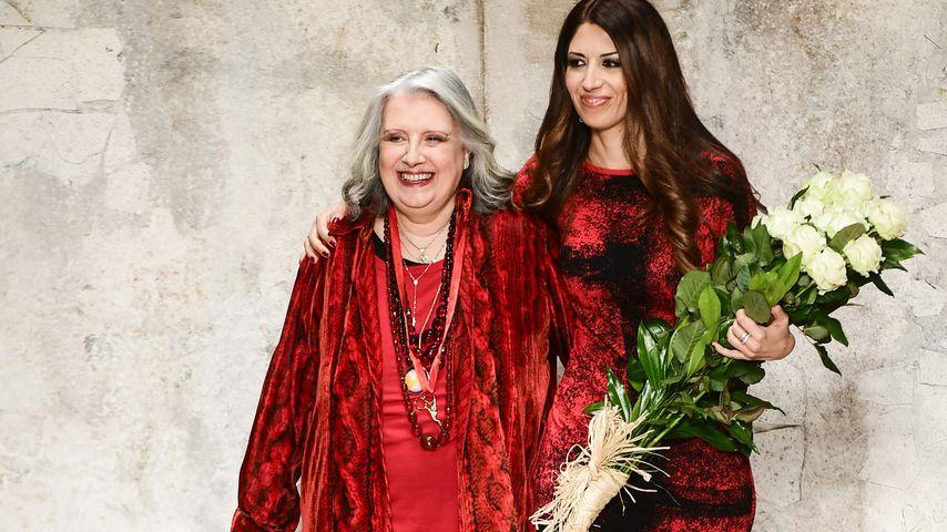 Designerin Laura Biagiotti und Tochter Lavinia