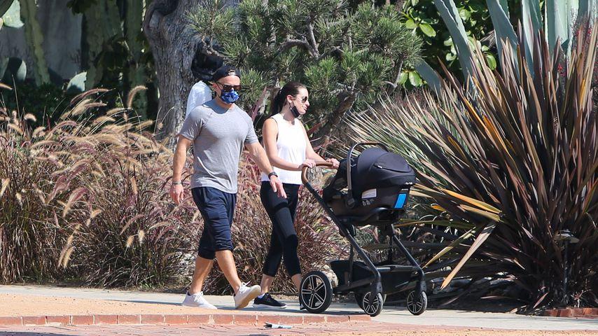 Lea Michele mit ihrem Mann Zandy und ihrem Sohn Ever