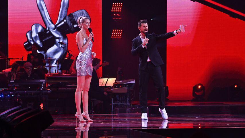 """Lena Gercke und Thore Schölermann beim Halbfinale von """"The Voice of Germany"""""""