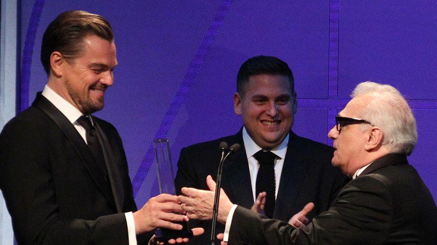 Leonardo DiCaprio, Jonah Hill und Martin Scorsese