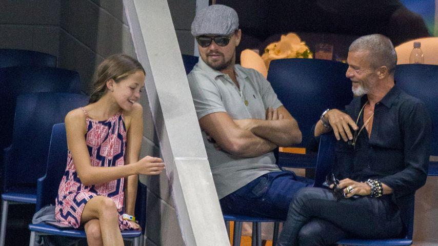 Leonardo DiCaprio mit einem kleinen Mädchen bei den US Open in New York
