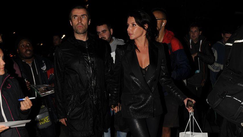 Liam Gallagher und Debbie Gwyther nach den GQ Awards in London