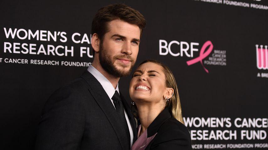 Liam Hemsworth und Miley Cyrus im Februar 2019