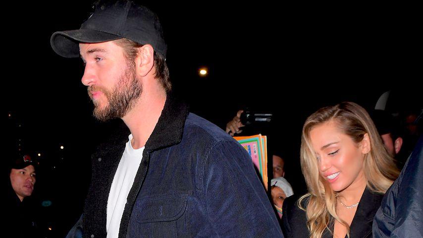 Liam Hemsworth und Miley Cyrus in New York, Dezember 2018