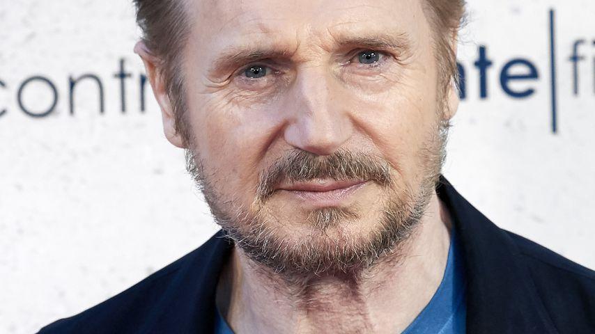 Liam Neeson bei einem Event in Madrid im Juli 2019