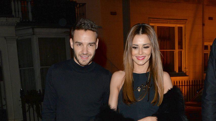 Liam Payne und Cheryl Cole beim Verlassen eines Restaurants in Belgravia