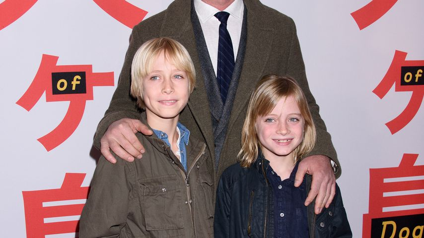 Liev Schreiber mit seinen Söhnen Samuel Kai und Alexander Pete