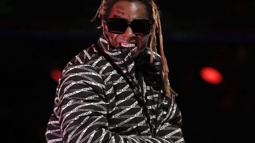 Lil Wayne beim NBA All-Star Slam Dunk Contest in Chicago im Februar 2020