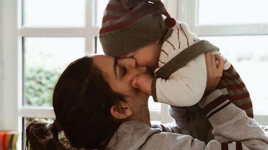 Lilli Hollunder mit ihrem Sohn