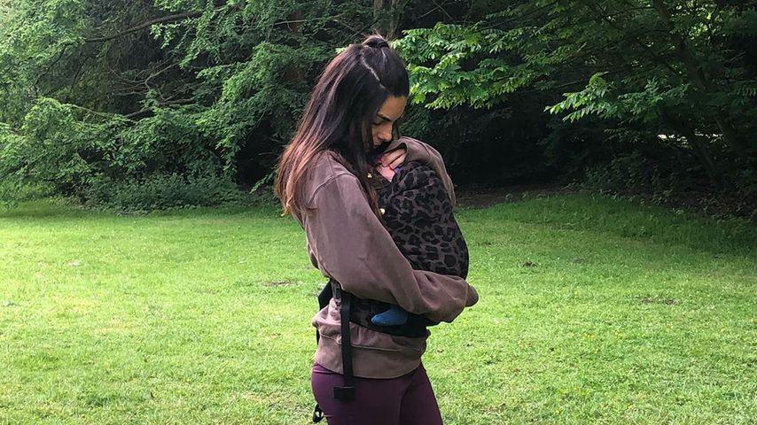 Lilli Hollunder und Baby Casper im Juni 2020