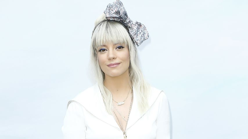 Lily Allen auf der Paris Fashion Week im Juli 2018