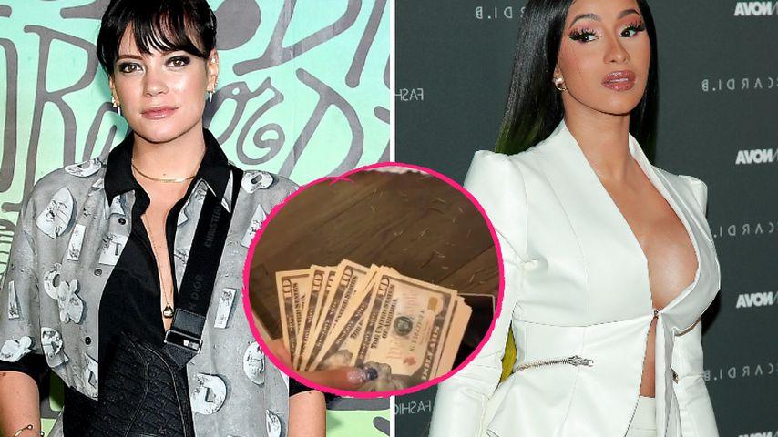 Luxus und Geldregen: Veräppelt Lily Allen hier etwa Cardi B?