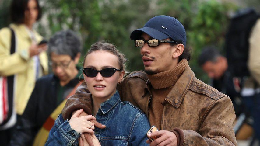 Die Schauspielerin Lily-Rose Depp und der Rapper Yassine Stein