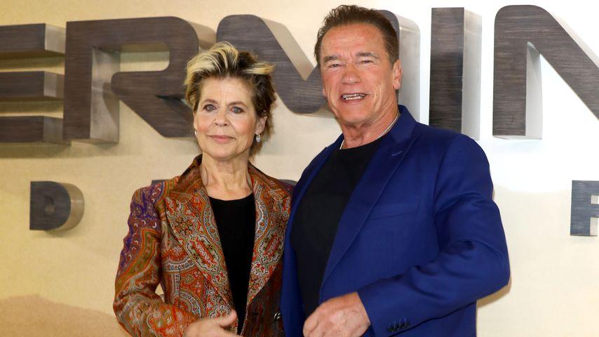 Linda Hamilton und Arnold Schwarzenegger, Oktober 2019