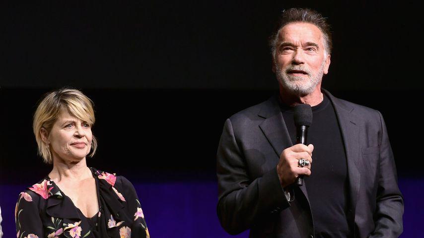 Linda Hamilton und Arnold Schwarzenegger 2019 in Las Vegas