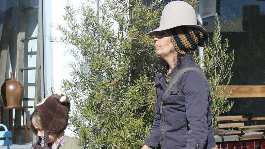 Musikerin Linda Perry und ihrem Sohn