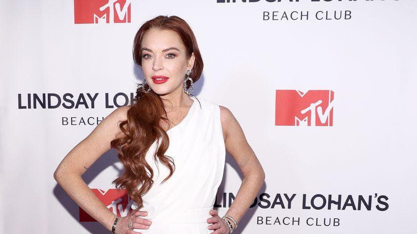 "Lindsay Lohan bei der Premiere von ""Lindsay Lohan's Beach Club"" im Januar 2019"