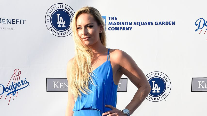 Lindsey Vonn bei einer Gala im Dodger Stadion in L.A.