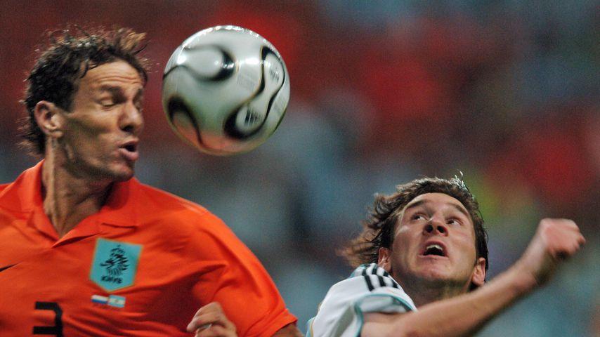 Lionel Messi (rechts) während eines WM-Spiels 2006