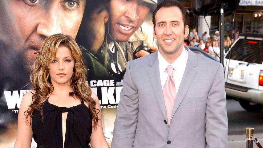 Lisa Marie Presley und Nicolas Cage bei einer Filmpremiere, 2002