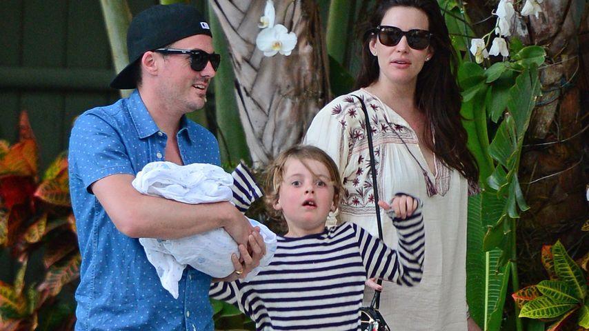 Liv Tyler mit Dave Gardner, Sohn Milo und Baby Sailor Gene