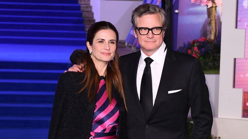 """Livia Giuggioli und Colin Firth bei der Europapremiere von """"Mary Poppins' Rückkehr"""""""