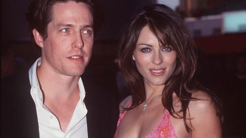 Liz Hurley & Hugh Grant 1999 bei einer Filmpremiere