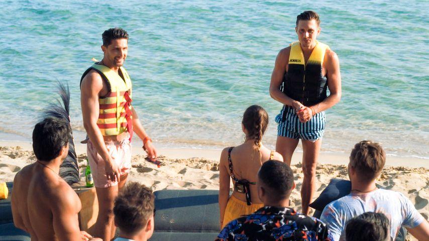 Bachelorette Maxime mit den Neuzugängen Lorik und Marcel