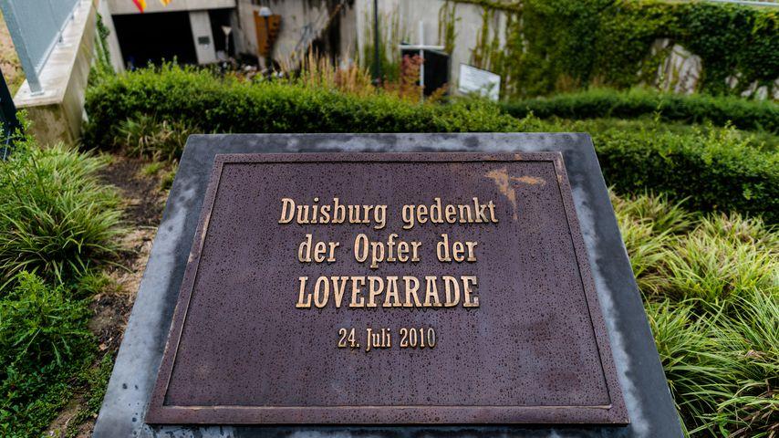 Love Parade-Gedenktafel in Duisburg