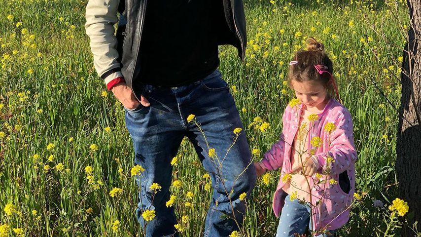Lucas Cordalis mit Töchterchen Sophia im März 2020