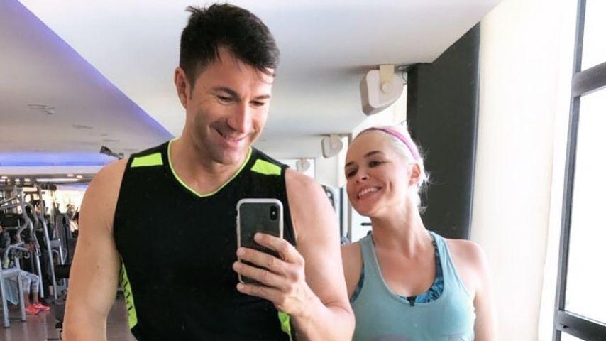 Power-Paar: Lucas Cordalis und Daniela Katzenberger im Gym