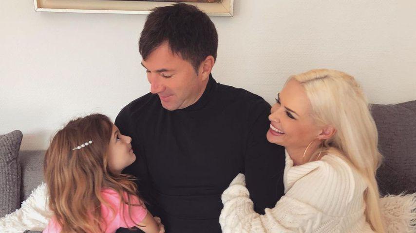 Lucas Cordalis und Daniela Katzenberger mit ihrer Tochter Sophia