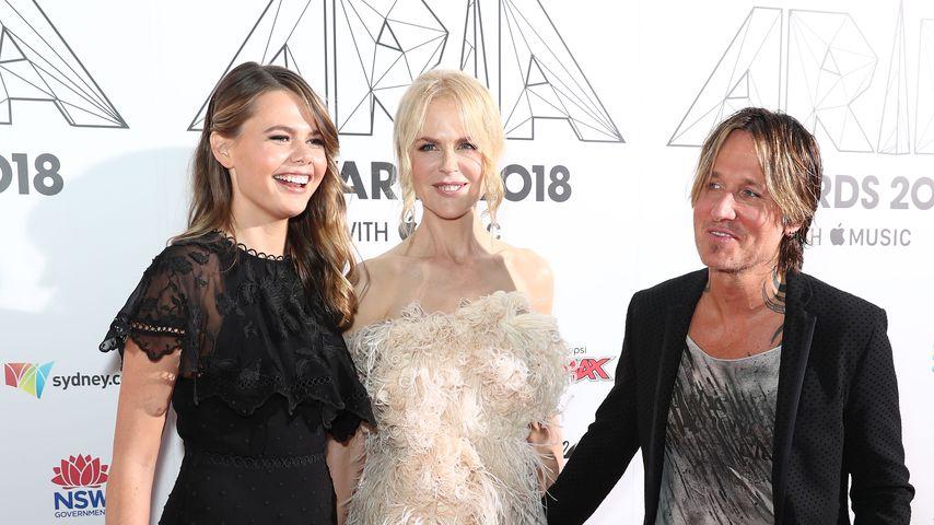 Lucia Hawley, Nicole Kidman und Keith Urban in Sydney