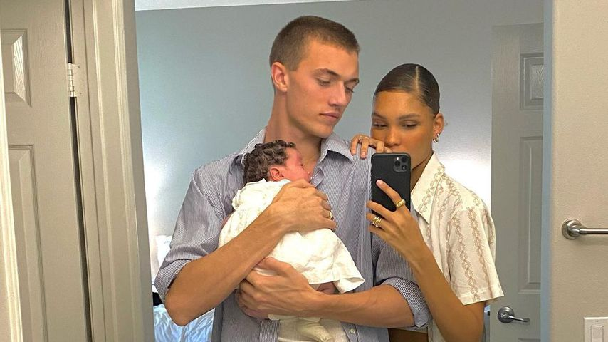 Lucky Blue Smith und Nara Pellman mit ihrem Baby Rumble Honey, November 2020