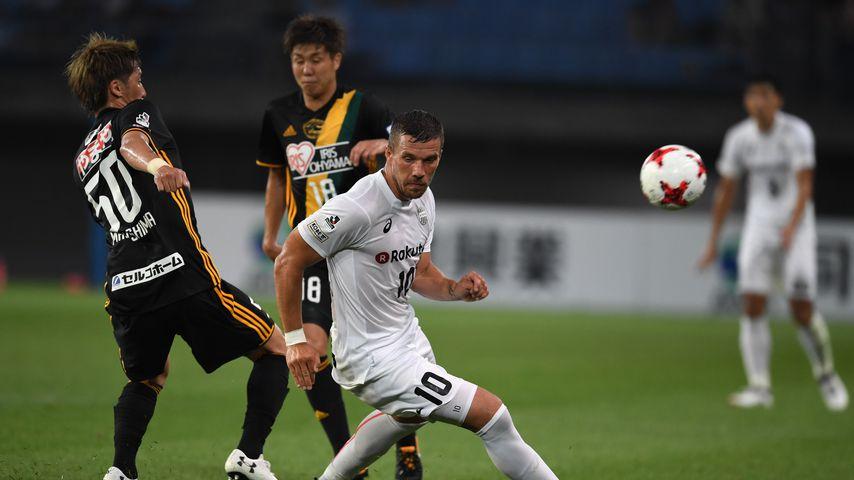 Lukas Podolski beim Spiel Vissel Kōbe gegen Vegalta Sendai