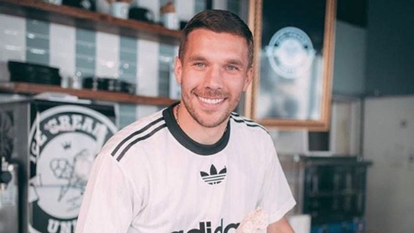 Lukas Podolski in seiner Eisdiele