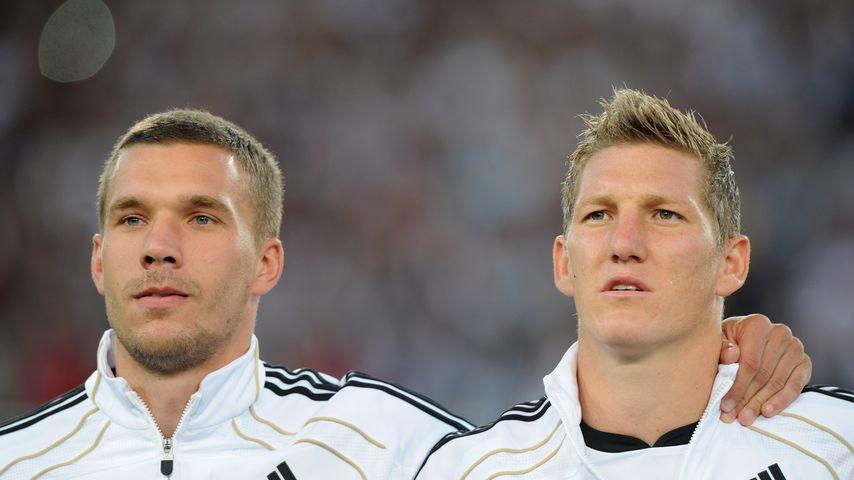 Lukas Podolski und Bastian Schweinsteiger 2011