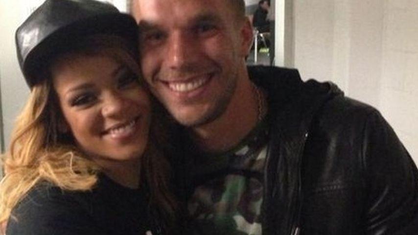 Stolz wie Oskar: Lukas Podolski trifft Rihanna