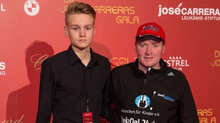 Luke Kelly mit seinem Vater Joey, Dezember 2016