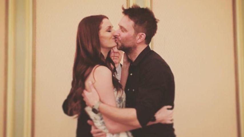 Lydia Hearst und Chris Hardwick bei ihrer Hochzeits-Probe