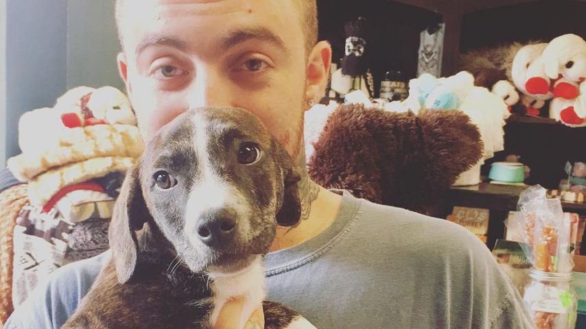 Mac Miller mit seinem Hund Myron, Januar 2017