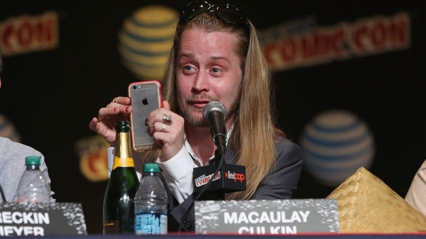 Macaulay Culkin bei einer Pressekonferenz in New York